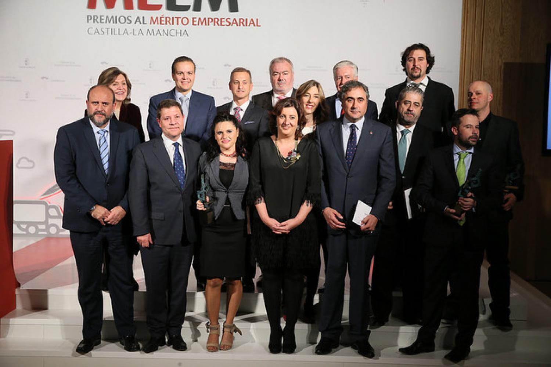 Premiados  al Mérito Empresarial CLM 2016 por la JCCM